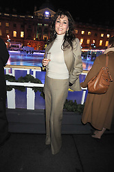 MARIE HELVIN at the opening of the Somerset House ice Rink for 2008 sponsored by Tiffany & Co held at Somerset House, The Strand, London on 18th November 2008.