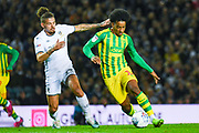 Leeds United midfielder Kalvin Phillips (23) and West Bromwich Albion forward Matheus Pereira (12) during the EFL Sky Bet Championship match between Leeds United and West Bromwich Albion at Elland Road, Leeds, England on 1 October 2019.