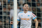 Olympique de Marseille's French forward Florian Thauvin reacts during the French Championship Ligue 1 football match between Olympique de Marseille and AS Monaco on January 28, 2018 at the Orange Velodrome stadium in Marseille, France - Photo Benjamin Cremel / ProSportsImages / DPPI