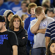 September 15, 2012 - Lexington, Kentucky, USA - UK fans react to the way their team was playing against Western Kentucky University, which defeated the University of Kentucky, 32-31, on a trick play in overtime. (Credit Image: © David Stephenson/ZUMA Press).