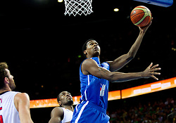 Mickael Gelabale of France during final basketball game between National basketball teams of Spain and France at FIBA Europe Eurobasket Lithuania 2011, on September 18, 2011, in Arena Zalgirio, Kaunas, Lithuania. (Photo by Vid Ponikvar / Sportida)