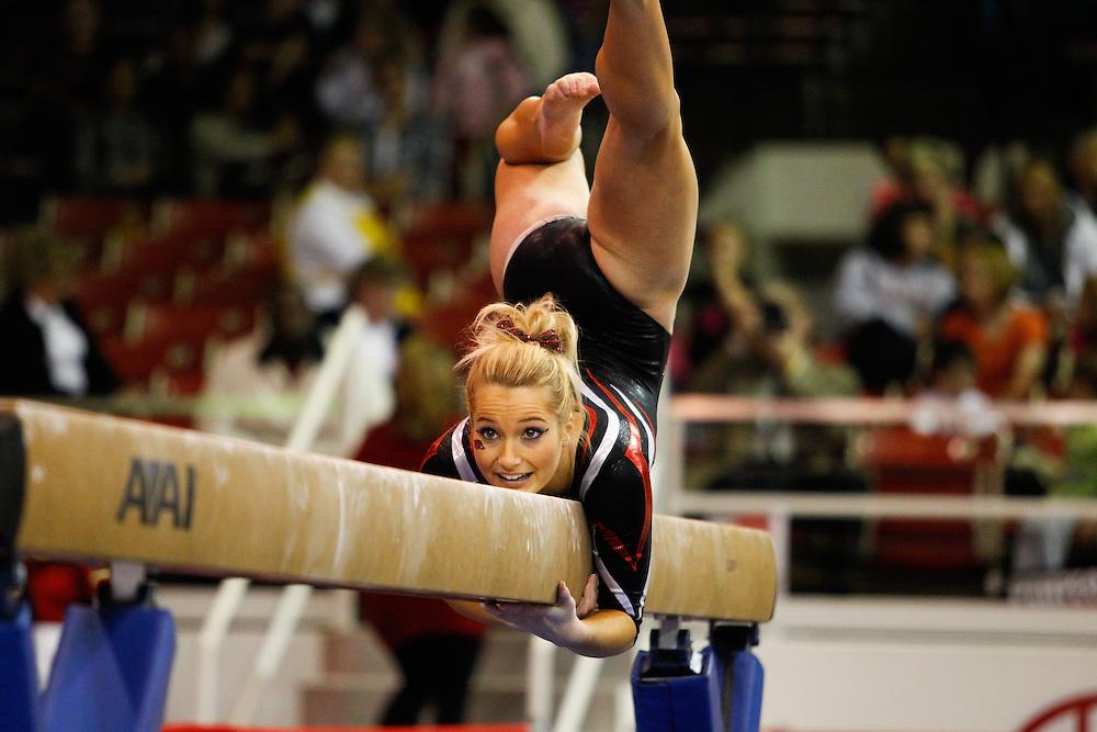 University of Arkansas Razorback 2010-2011 Women's Gymnastics Team action photos<br /> <br /> <br /> <br /> &copy;Wesley Hitt<br /> All Rights Reserved<br /> 501-258-0920