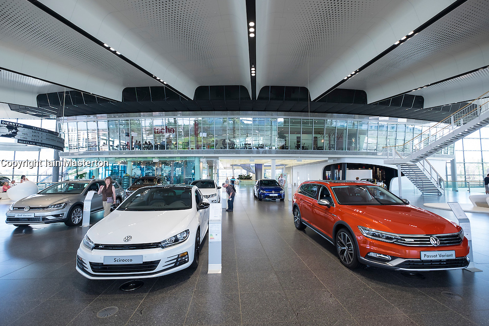Interior of Customer Centre at Volkswagen's Autostadt in Wolfsburg , Germany