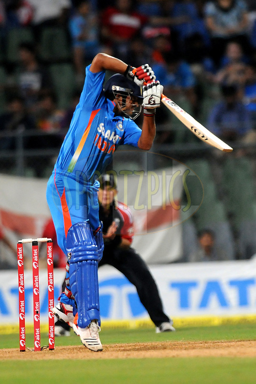 Suresh Raina of India bats during the 4th One Day International ( ODI ) match between India and England held at the Wankhede Stadium, Mumbai on the 23rd October 2011..Photo by Pal Pillai/BCCI/SPORTZPICS