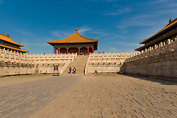 Photo illustrating the vasy expanse of the Forbidden City