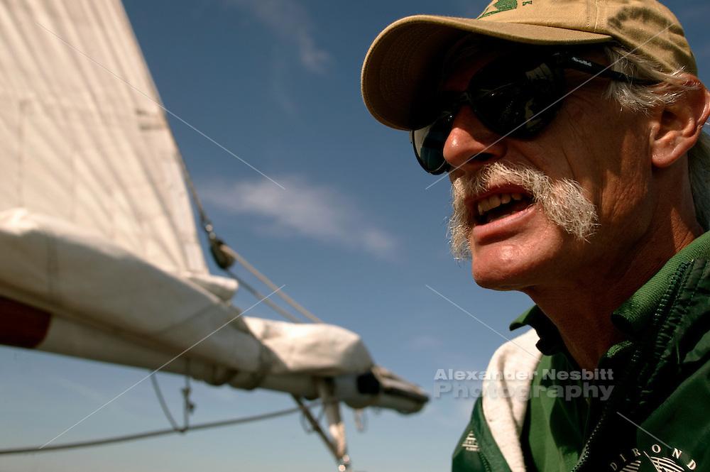 USA, Newport, RI - Skipper of Schooner Adirondack
