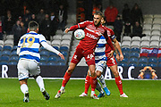 Lewis Wing (26) of Middlesbrough during the EFL Sky Bet Championship match between Queens Park Rangers and Middlesbrough at the Kiyan Prince Foundation Stadium, London, England on 9 November 2019.