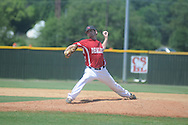 The Dealers' Jeremy Massie pitches in Cotton States League baseball action in New Albany, Miss. on Sunday, July 15, 2012.