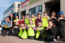 Children from Ryecroft school celebrated World Book Day on Thursday 1 March at Parkgate Shopping Rotherham with the help of Billy Smith Savills Area Property Manager (far left) and Denis Copeland Parkgate Shopping Manager..http://www.pauldaviddrabble.co.uk..1 March 2012 -  Image © Paul David Drabble