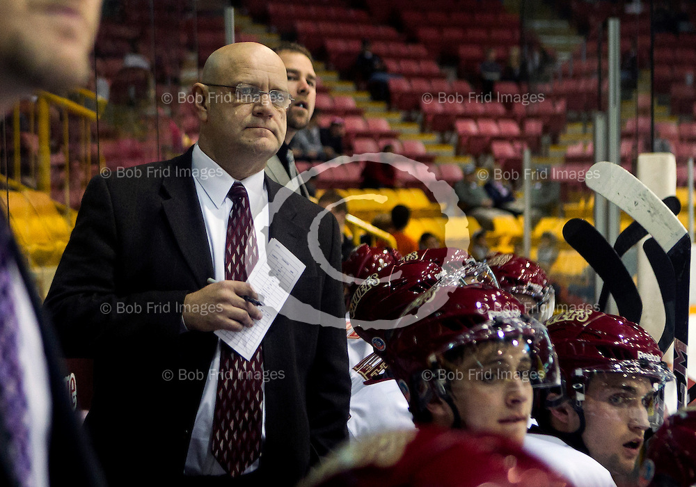 01 October  2011:  Chilliwack Chiefs Head Coach Harvey Smyl during a game between the Chilliwack Chiefs and the Salmon Arm Silverbacks.  Prospera Centre, Chilliwack, BC.    Final Score: Chilliwack   Salmon Arm   ****(Photo by Bob Frid/Freemotionphotography.ca) All Rights Reserved : cell 778-834-2455 : email: bob.frid@shaw.ca ****