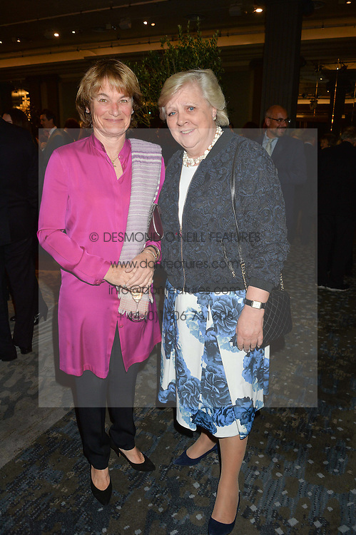 Left to right, EMMA KESWICK and ANNE BECKWITH-SMITH at a party to celebrate the publication of Thenford: The Creation of an English Garden by Michael & Anne Heseltine held at The Grosvenor House Hotel, Park Lane, London on 24th October 2016.