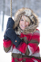A fun winter portrait session with Dana and Mary.   © 2014 Karen Bobotas Photographer