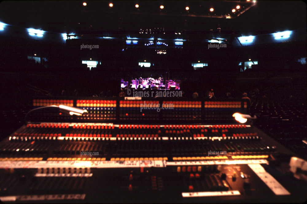 The Grateful Dead Sound Mixing Board. Before the Band performs Live at The Providence Civic Center on 18 January 1979