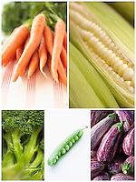 Collage of various vegetables