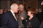 SIR MENZIES CAMPBELL; PAULINE COLLINS, James Naughtie: The Madness of July published by Head of Zeus - book launch party, ICA, London. 25 February 2014.