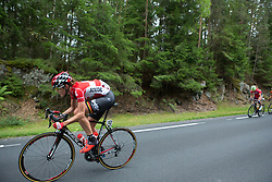 Isabelle Beckers (BEL) of Lotto Soudal Cycling Team launches an attack on Stage 1 of the Ladies Tour of Norway - a 101.5 km road race, between Halden and Mysen on August 18, 2017, in Ostfold, Norway. (Photo by Balint Hamvas/Velofocus.com)