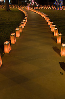 Luminarias for Christmas Eve on Pennsylvania Circle, El Paso, Texas.