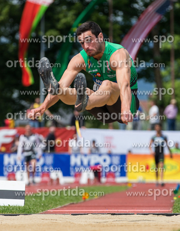 28.05.2016, Moeslestadion, Goetzis, AUT, 42. Hypo Meeting Goetzis 2016, Zehnkampf der Herren, Weitsprung, im Bild Jorge Arena (ESP) // Jorge Arena of Spain during the Long jump event of the Decathlon competition at the 42th Hypo Meeting at the Moeslestadion in Goetzis, Austria on 2016/05/28. EXPA Pictures © 2016, PhotoCredit: EXPA/ Peter Rinderer