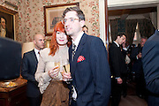 FLORENCE WELCH; STUART HAMMOND, Dylan Jones hosts a party for Brett Easton Ellis and his new book.- Imperial Bedrooms. Mark's Club. London. 15 July 2010.  -DO NOT ARCHIVE-© Copyright Photograph by Dafydd Jones. 248 Clapham Rd. London SW9 0PZ. Tel 0207 820 0771. www.dafjones.com.