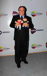 November 9, 2018 - Osasco, Brazil - OSASCO, SP - 09.11.2018: 2014 TELETON - TeleTom 2018 at the SBT in Osasco, São Paulo, aims to raise R $ 30 million to help maintain the AACD (Association and Assistance to the Deprived Child), so the event occurs 24 hours uninterrupted with the participation of SBT artists and also of other partner stations in the project. In the photo, Ronnie Von. (Credit Image: © Fabricio Pioyani/Fotoarena via ZUMA Press)