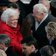 Presidential Inauguration 2005- GEORGE W. BUSH.Washington, DC.01/20/2005.West Front - US Capitol.Former President Jimmy Carter with Former First Lady Barbara Bush..Photo by Khue Bui..
