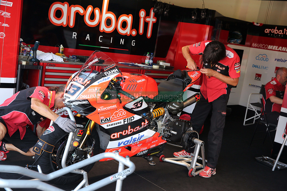 July 8, 2018 - Misano, Italy, Italy - 33 Marco Melandri ITA Ducati Panigale R Aruba.it Racing - Ducati during the Motul FIM Superbike Championship - Italian Round  Sunday race during the World Superbikes - Circuit PIRELLI Riviera di Rimini Round, 6 - 8 July 2018 on Misano, Italy. (Credit Image: © Fabio Averna/NurPhoto via ZUMA Press)