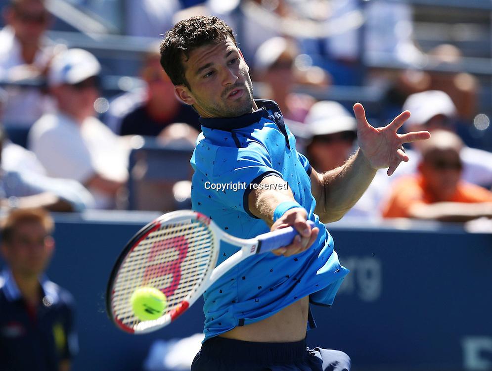 30.08.2014. Flushing Meadows, New York, USA. US Open tennis championships.  Grigor Dimitrov (BUL)