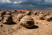Israel, Negev. The Bulbus rock field in front of Mount Zin