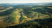 Aerial view over WillaKenzie Estate, Yamhill-Carlton AVA, Willamette Valley, Oregon