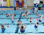 Middletown, New York - People enjoy an aquacize class in the pool at the Middletown YMCA  on Nov. 14, 2014. s