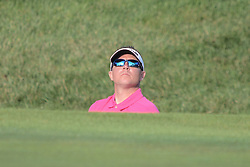 August 10, 2018 - Town And Country, Missouri, U.S - JAYSEN HANSEN from solon Ohio, USA  looks up over the end of the sand trap at the green during round two of the 100th PGA Championship on Friday, August 10, 2018, held at Bellerive Country Club in Town and Country, MO (Photo credit Richard Ulreich / ZUMA Press) (Credit Image: © Richard Ulreich via ZUMA Wire)