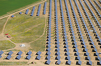 Aerial image<br /> solar energy power station Salamanca Region, Castilla y León, Spain