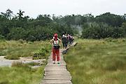 Semuliki National Park in western Uganda Tourists in the Game reserve