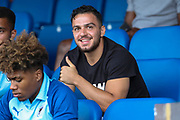 AFC Wimbledon Egli Kaja (3) giving a thumbs up during the Pre-Season Friendly match between AFC Wimbledon and Brentford at the Cherry Red Records Stadium, Kingston, England on 5 July 2019.