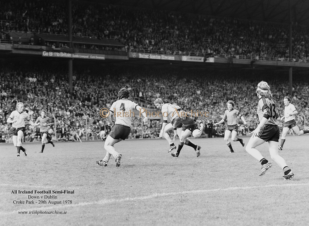 All Ireland Senior Football Semi Final - Dublin v Down<br /> Croke Park, Dublin<br /> 20.08.1978  20th August 1978