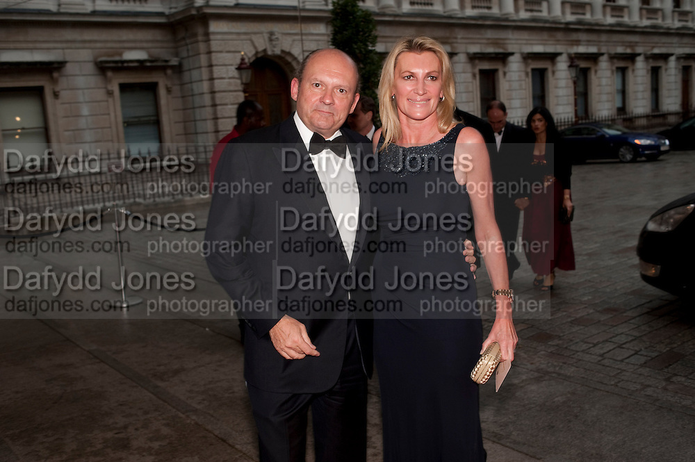 MICHAEL SPENCER; SARAH MARCHIONESS OF MILFORD HAVEN, Triennial Summer Ball, Royal Academy. Piccadilly. London. 20 June 2011. <br /> <br />  , -DO NOT ARCHIVE-© Copyright Photograph by Dafydd Jones. 248 Clapham Rd. London SW9 0PZ. Tel 0207 820 0771. www.dafjones.com.