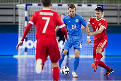 Chingiz Yessenamanov of Kazakhstan and Artem Niyazov of Russia during futsal match between National teams of Kazakhstan and Russia at Day 5 of UEFA Futsal EURO 2018, on February 3, 2018 in Arena Stozice, Ljubljana, Slovenia. Photo by Urban Urbanc / Sportida