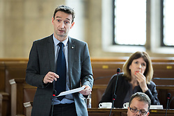© Licensed to London News Pictures . 13/07/2016. Manchester , UK . Liberal Democrat CLLR JOHN LEECH . Leech was MP for Manchester Withington until the 2015 election . He is the only non-Labour member of the council . Proceedings at a Manchester City Council meeting , at the Town Hall in Manchester . Photo credit: Joel Goodman/LNP