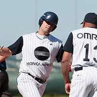 04 June 2010: Unindentified player of Konica Minolta Pioniers is seen during the 2010 Baseball European Cup match won 19-9 by Konica Minolta Pioniers over the Rouen Huskies, at the Kravi Hora ballpark, in Brno, Czech Republic.