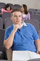 University student sitting in lecture hall