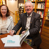Annitta Keane from Mountshannon, a lifelong fan of Donncha O Dúlaing, at the Launch of his book at Ennis Bookshop