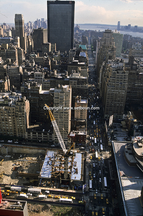 New York. elevated view on Times square. Times square area under renovation New York - United States   /  le quartier de Times square en renovation, TRAVAUX, New York - Etats unis