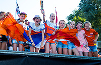 BREDA -  jonge supporters   tijdens Nederland-Japan bij de 4 Nations Trophy dames 2018 .   COPYRIGHT KOEN SUYK