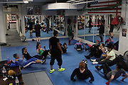 "1 Nov. 2013 -New York, NY- Boxing coach Teresa Scott of Women's World of Boxing offers group and private ""technical"" boxing training for women at Mendez Boxing. Women's World of Boxing is currently being hosted by Mendez Boxing NY, but Scott hopes to open the first women only boxing gym in New York City. Photo credit: Tanisia Morris"