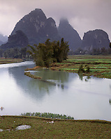 AA01206-02...CHINA - Tributary to the Li River near Yangshuo,