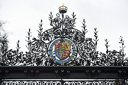 Details of the Norwich Gates to the Sandringham Estate in Norfolk, where Queen Elizabeth II and senior royals are holding crisis talks over the future roles of the Duke and Duchess of Sussex.