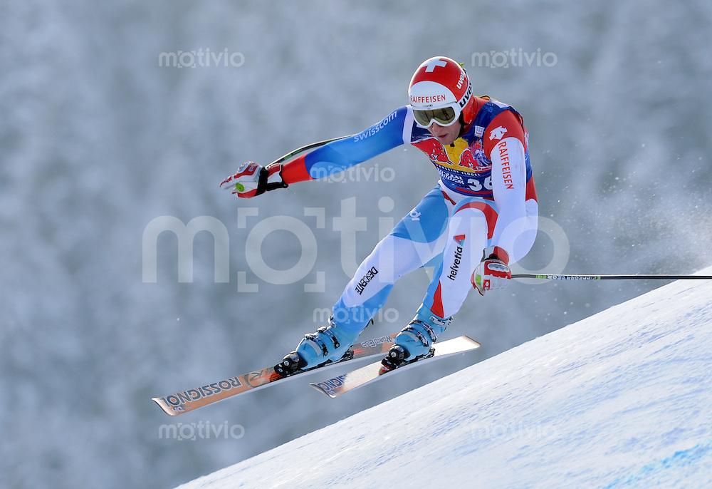 Ski Alpin;  Saison 2007/2008  22.01.2009 69. Hahnenkamm Rennen,  Abfahrt   2. Training   Silvan Zurbriggen (SUI)