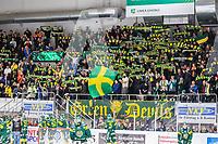 2019-11-16 | Umeå, Sweden:IF Björklöven supporters in  HockeyAllsvenskan during the game  between Björklöven and AIK at A3 Arena ( Photo by: Michael Lundström | Swe Press Photo )<br /> <br /> Keywords: Umeå, Hockey, HockeyAllsvenskan, A3 Arena, Björklöven, AIK, mlba191116, happy happiness celebration celebrates