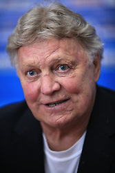 Bobby Hull of Canada?s 1976 Canada Cup team, that players are in Hockey Hall of Fame,at IIHF WC 2008 in Halifax, on May 06, 2008 in Metro Center, Halifax, Nova Scotia, Canada. Germany won 4:2. (Photo by Vid Ponikvar / Sportal Images)