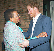 Prince Harry Meets Graca Machel, Mandela Foundation